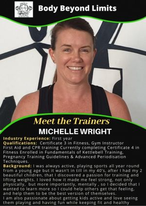Michelle - Personal and Group Fitness Trainer